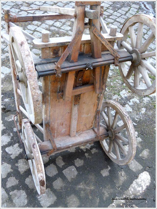 alter handwagen bollerwagen gartendeko leiterwagen g584 ebay. Black Bedroom Furniture Sets. Home Design Ideas