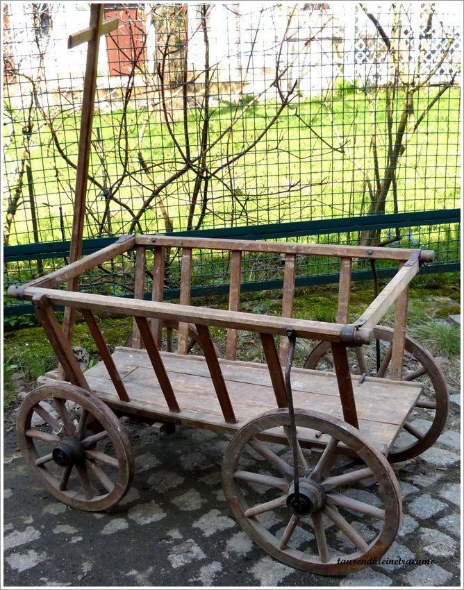 alter handwagen bollerwagen gartendeko leiterwagen g586 ebay. Black Bedroom Furniture Sets. Home Design Ideas
