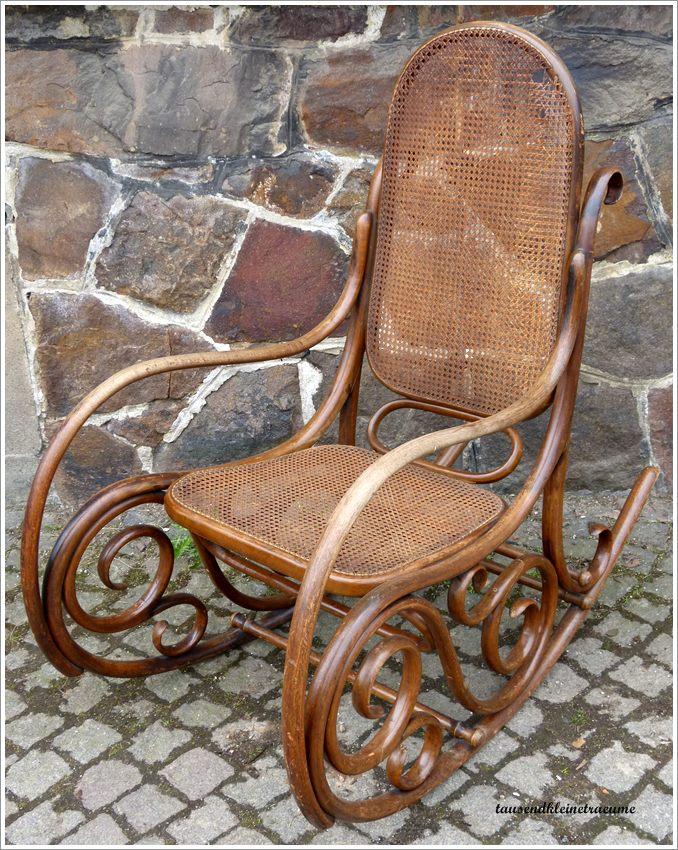 Alter Schaukelstuhl schöner alter schaukelstuhl bugholz fischel niemes bÖhmen g562 | ebay