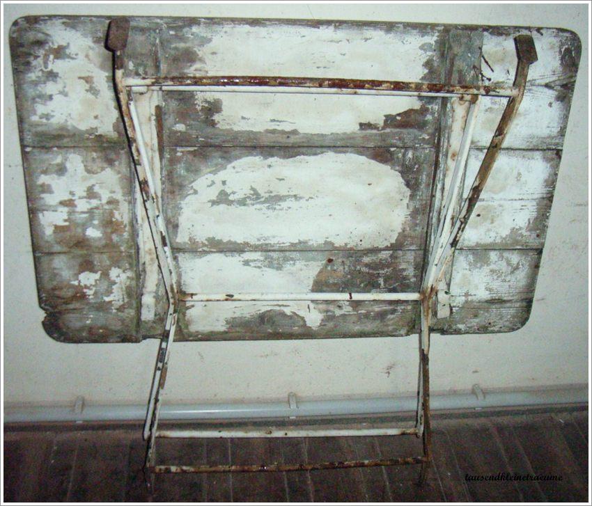 Biergartentisch holztisch metallgestell klapptisch for Holztisch mit metallgestell