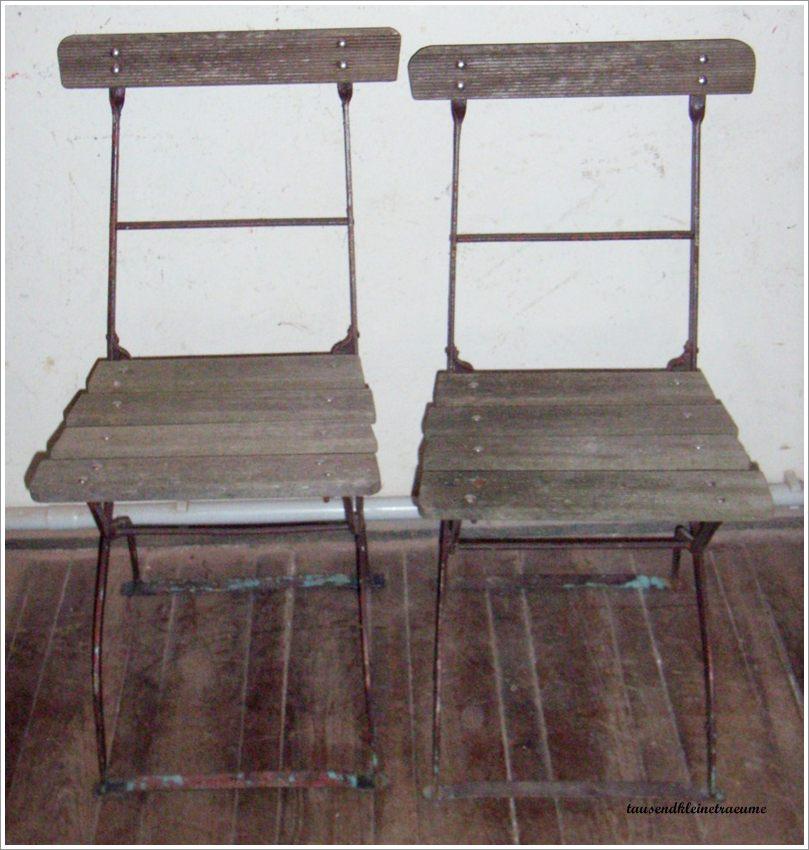 2 st ck alte eisen gartenst hle biergartenstuhl eisenklappstuhl gartenm bel g358 ebay. Black Bedroom Furniture Sets. Home Design Ideas