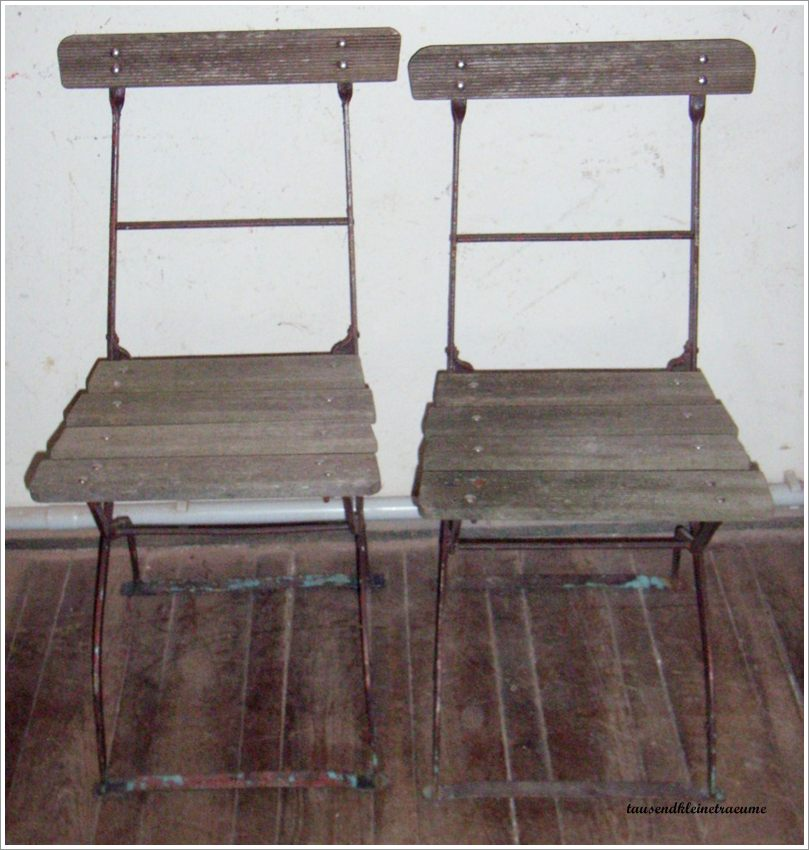 2 st ck alte eisen gartenst hle biergartenstuhl. Black Bedroom Furniture Sets. Home Design Ideas