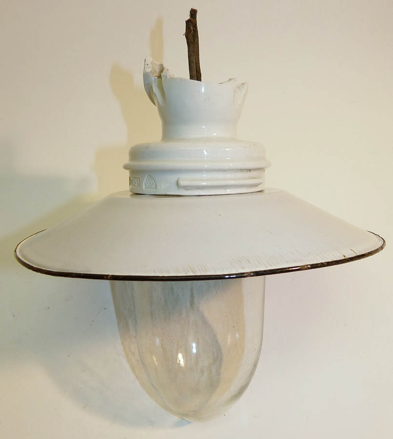 industriedesign emailleschirm werkstatt lampe deckenlampe. Black Bedroom Furniture Sets. Home Design Ideas