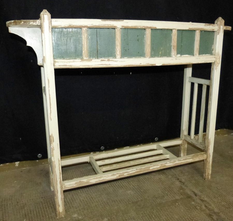sch ne jugendstil blumenbank aus holz wei e farbe vintage raumteiler shabby chic ebay. Black Bedroom Furniture Sets. Home Design Ideas