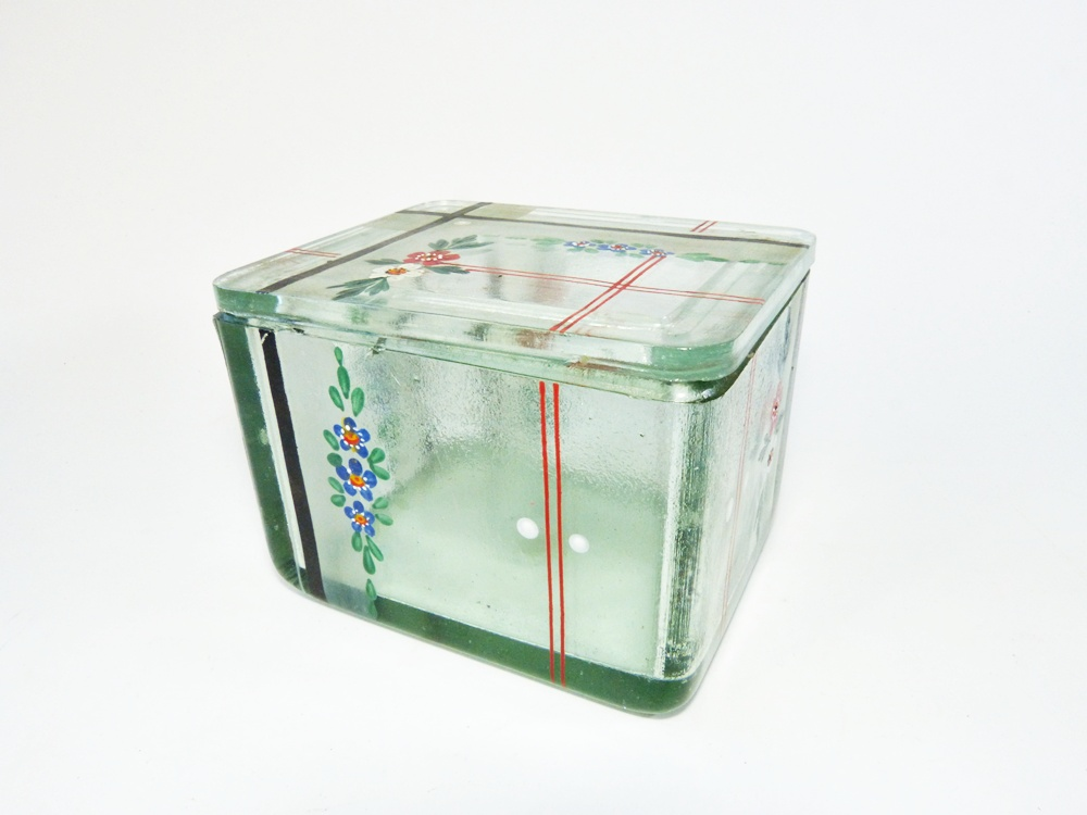 deckeldose aus glas entwurf wilhelm wagenfeld kubus geschirr ebay. Black Bedroom Furniture Sets. Home Design Ideas