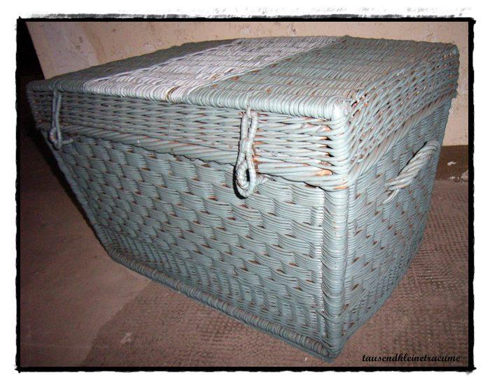 korbtruhe spielzeugkorb weidenkorb korb reisetruhe reisekorb deckel truhe f426. Black Bedroom Furniture Sets. Home Design Ideas