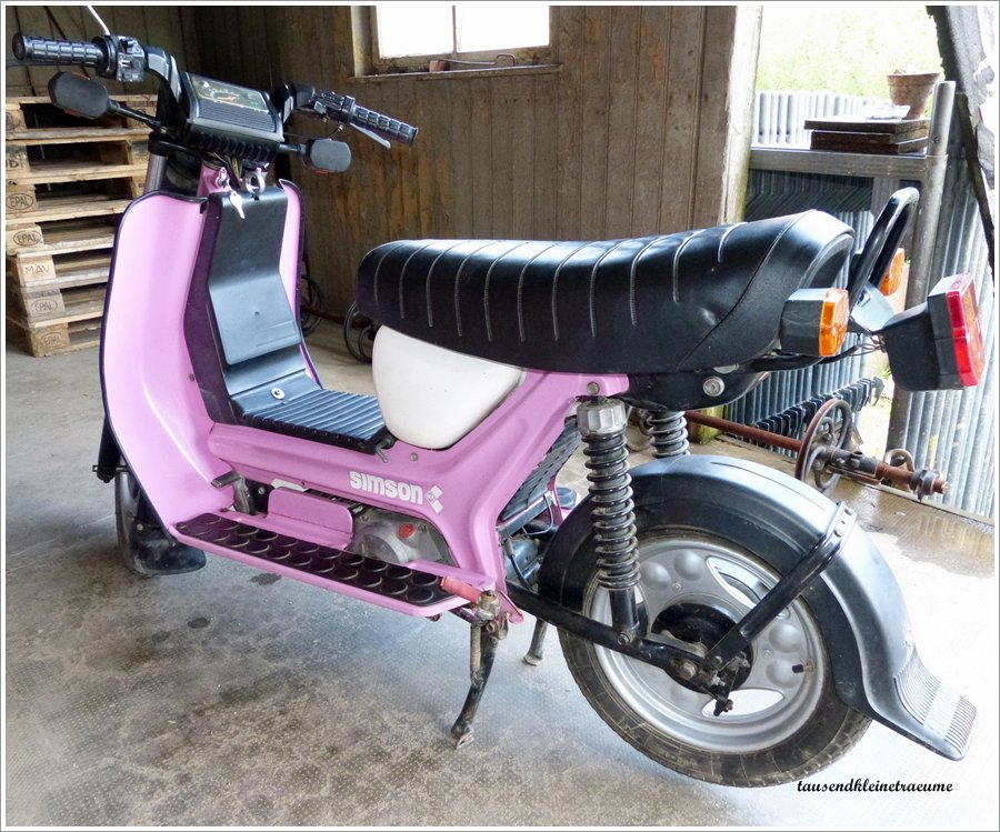 ddr motorroller simson roller sr50 1 c 4 gang pink farben baujahr 1989 ebay. Black Bedroom Furniture Sets. Home Design Ideas