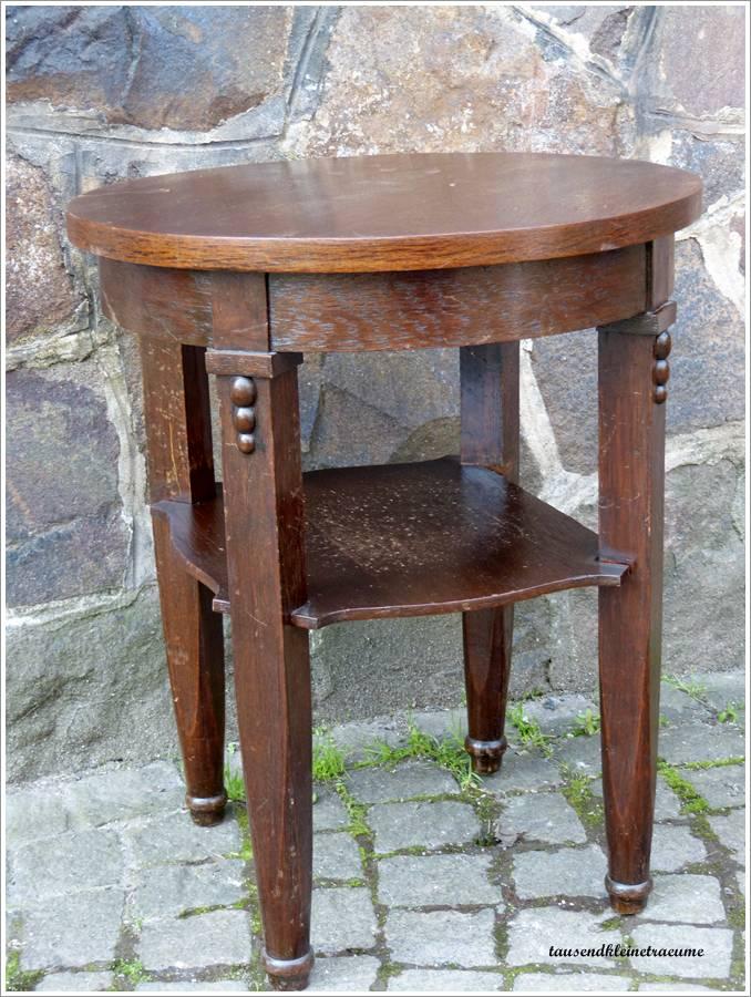 h bscher alter jugendstil holztisch tisch aus holz runder. Black Bedroom Furniture Sets. Home Design Ideas