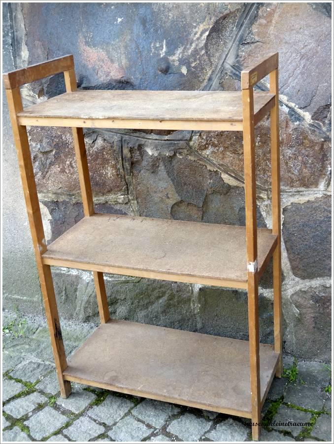 altes holzregal regal holz h642 ebay. Black Bedroom Furniture Sets. Home Design Ideas