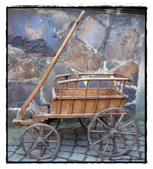 alter kinderwagen naehter kinderkutsche kleiner handwagen. Black Bedroom Furniture Sets. Home Design Ideas