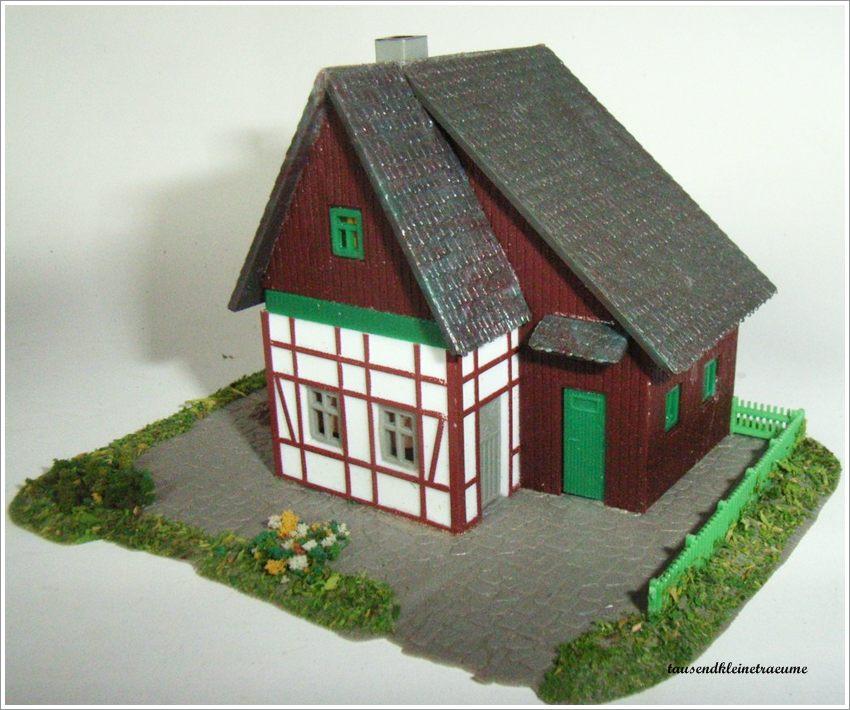 Vero modell dorfhaus mit schindeldach modellbahn eisenbahn