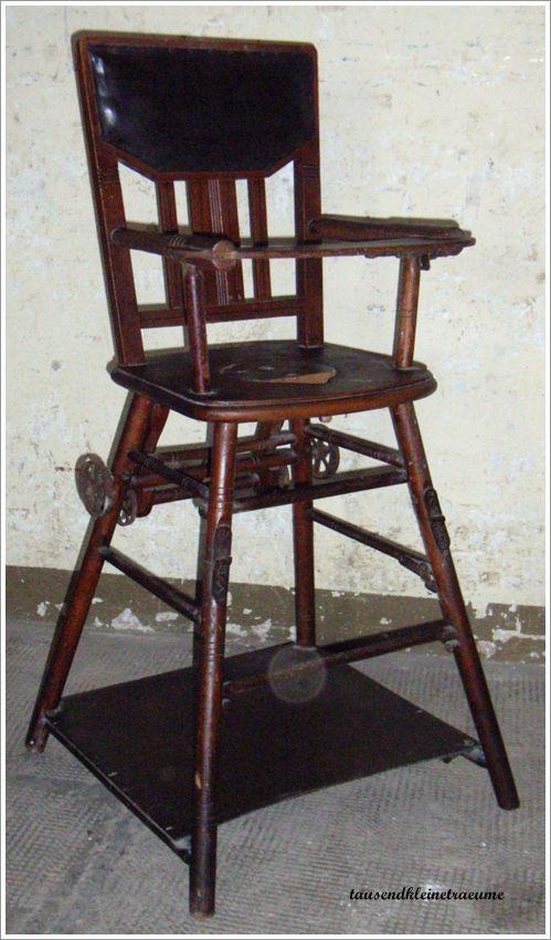 jugendstil kinderstuhl hochstuhl spieltisch kackstuhl holzstuhl ebay. Black Bedroom Furniture Sets. Home Design Ideas