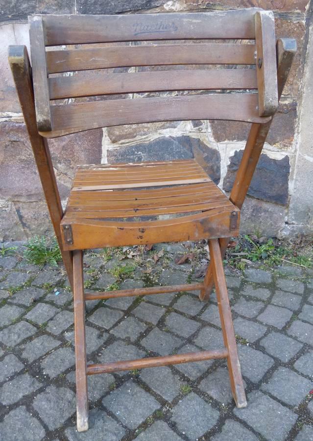alter naether gartenstuhl holzstuhl klappstuhl gartenm bel k329 ebay. Black Bedroom Furniture Sets. Home Design Ideas