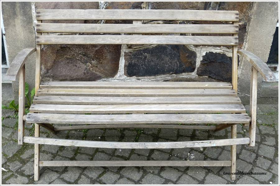 h bsche alte art deco holzbank bank gartenbank gartenm bel klappbank g847 ebay. Black Bedroom Furniture Sets. Home Design Ideas