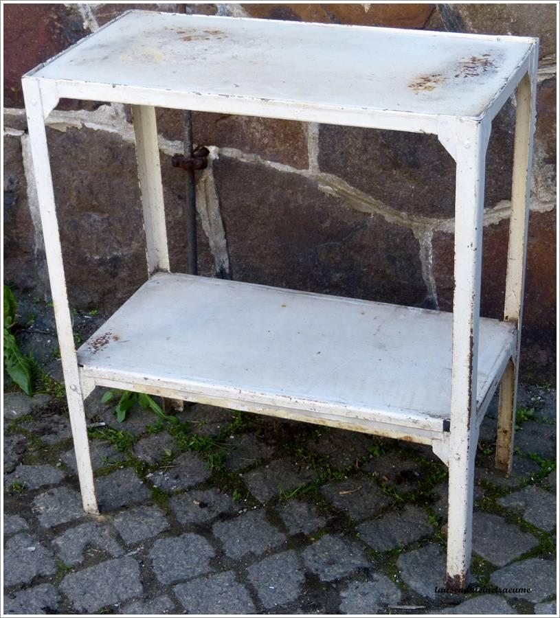 art deco eisen beistelltisch tisch metalltisch wei. Black Bedroom Furniture Sets. Home Design Ideas