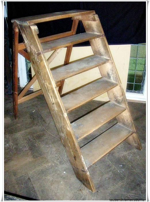 breite-schwere-Bibliotheks-LEITER-Setztreppe-Holzleiter