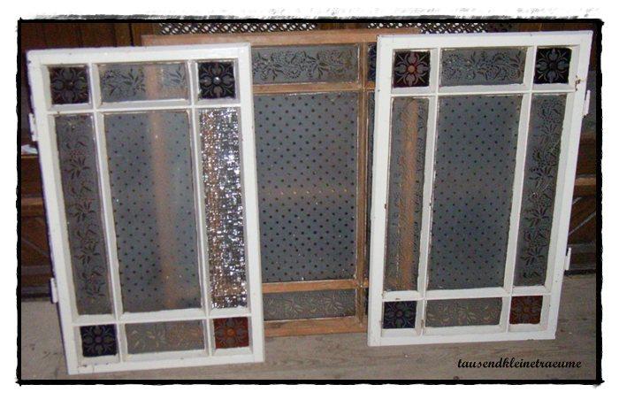 butzenglasscheiben 3 st ck jugendstil fenster ge tzes geschliffenes glas ebay. Black Bedroom Furniture Sets. Home Design Ideas