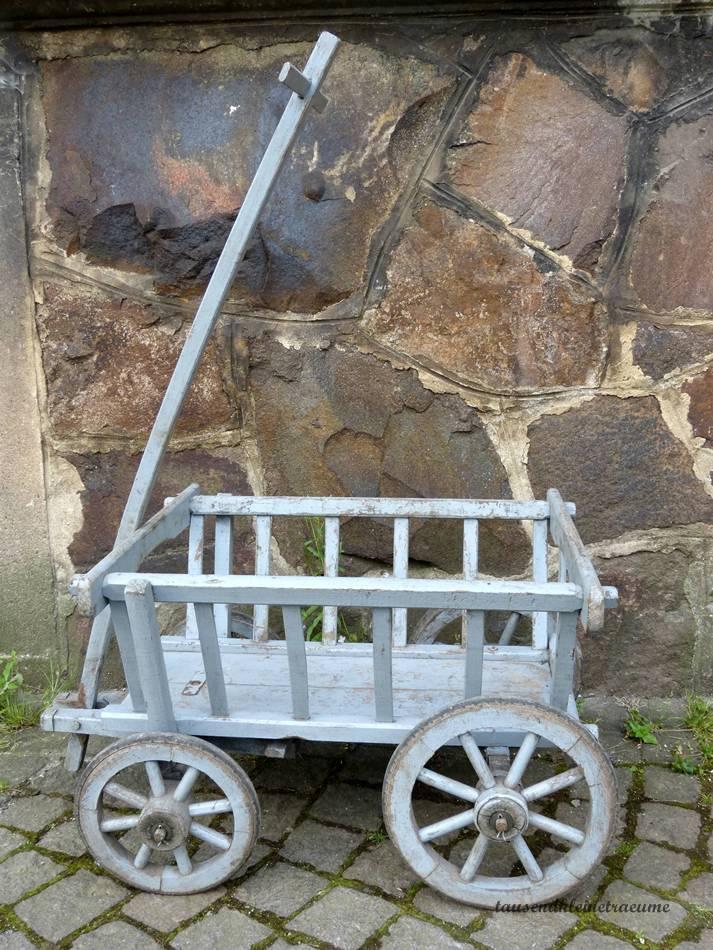 alter handwagen bollerwagen gartendeko leiterwagen i24 ebay. Black Bedroom Furniture Sets. Home Design Ideas