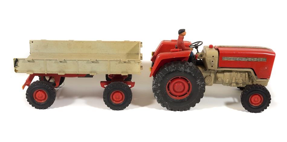Alter traktor mit anhänger veb anker ddr spielzeug er
