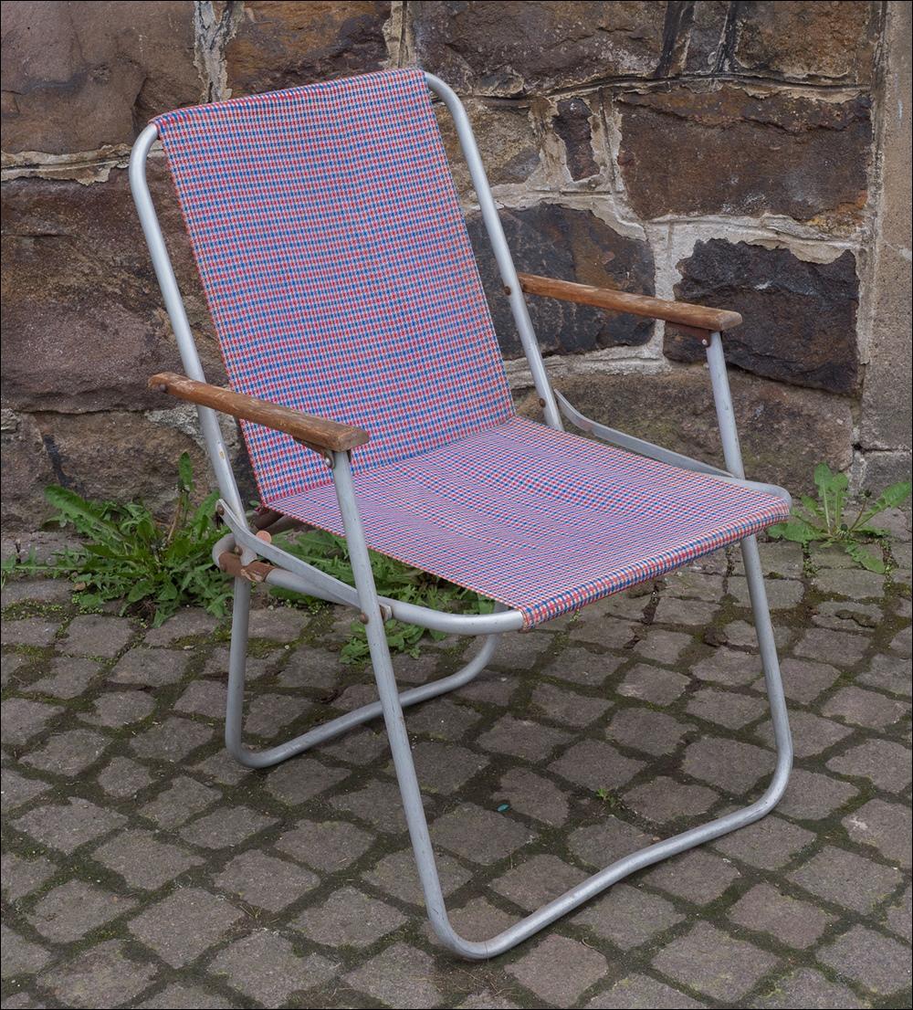 2 x alter ddr alu campingstuhl liegestuhl vintage 70er for Garten 70er jahre