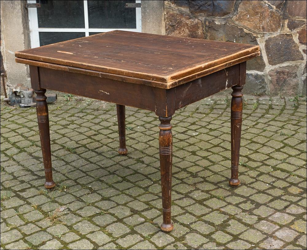gro er tisch esstisch aus massiven weichholz kiefer holz ausziehtisch um 1880 ebay. Black Bedroom Furniture Sets. Home Design Ideas