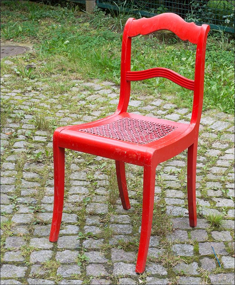 alter biedermeier stuhl um 1850 knallrot bemalt vintage shabby chic rote farbe ebay. Black Bedroom Furniture Sets. Home Design Ideas