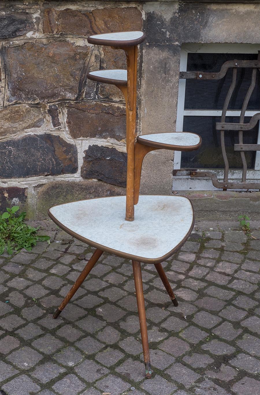Blumenbank tisch orig vintage design wohnzimmertisch der for Tisch 50er design