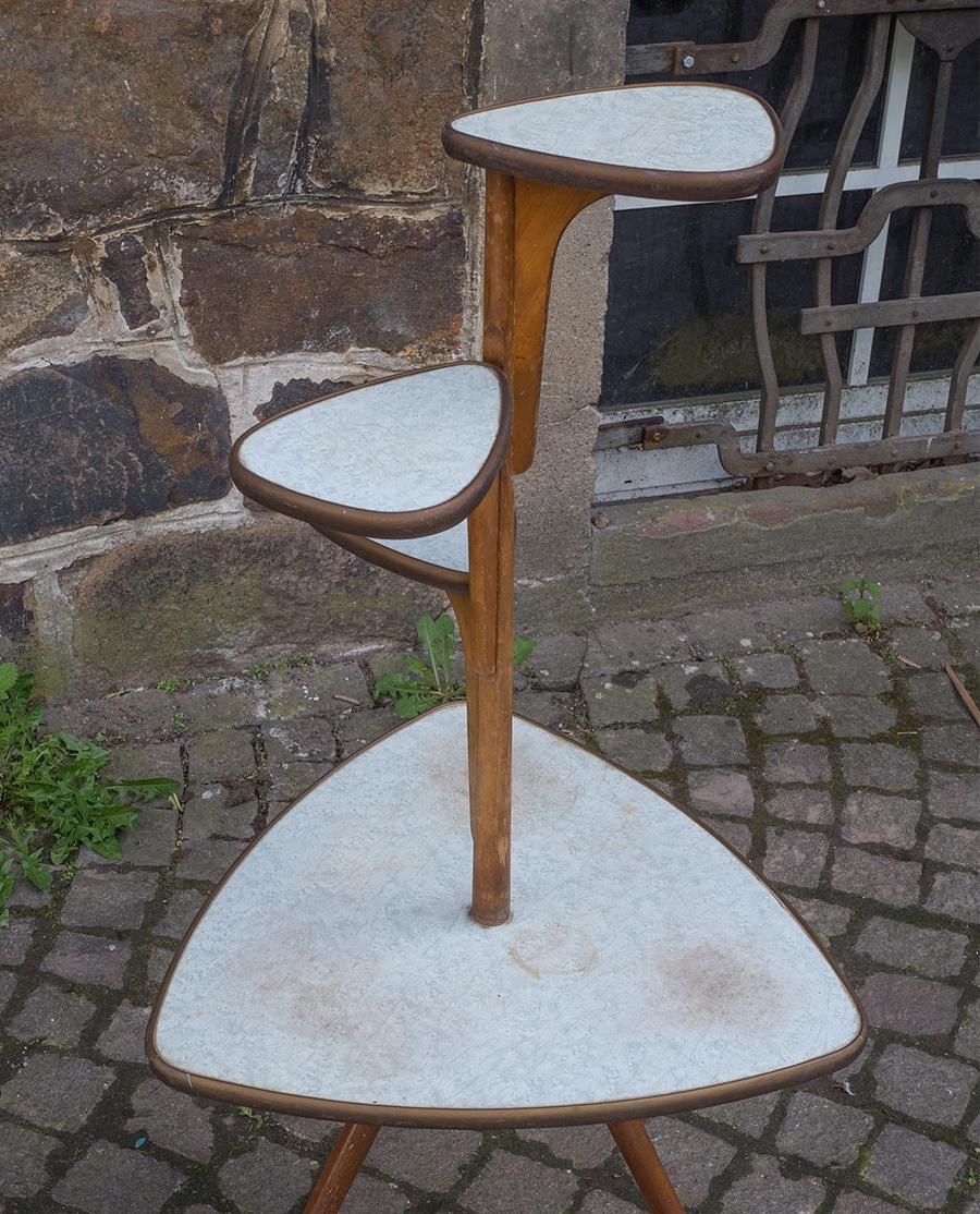 Blumenbank tisch orig vintage design wohnzimmertisch der for Design tisch 60er