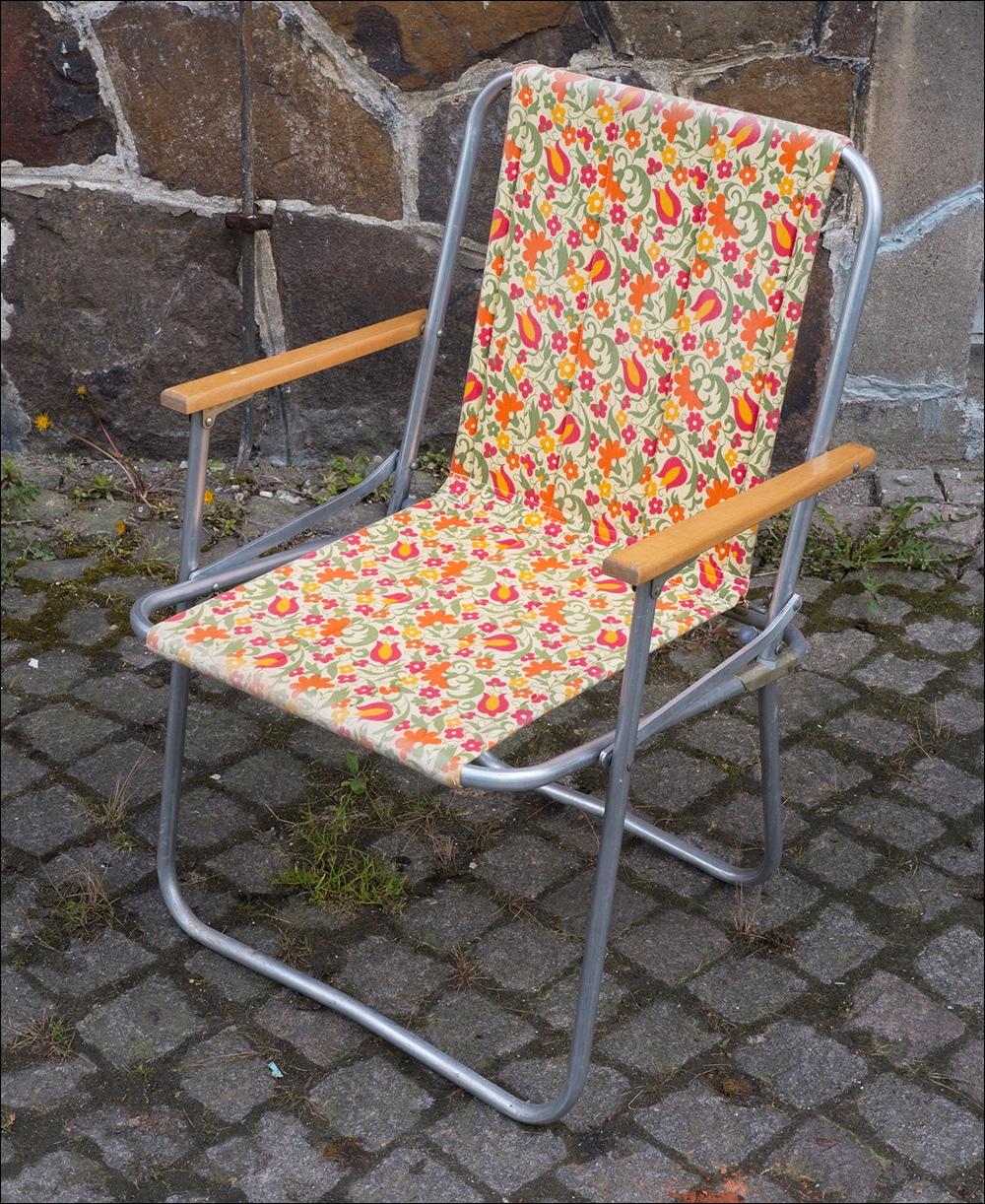 2 x ddr alu campingstuhl klapptisch gartentisch vintage for Garten 70er jahre