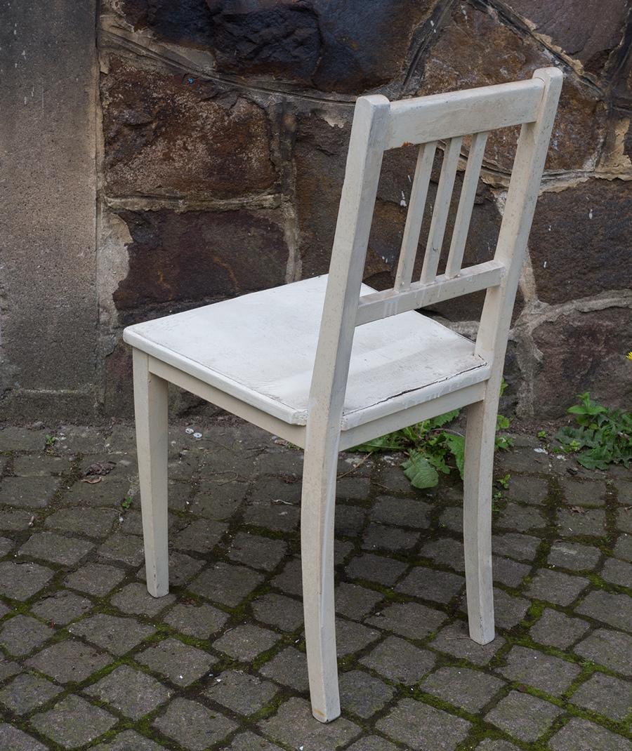 art deco stuhl wei e k chenst hle aus holz vintage