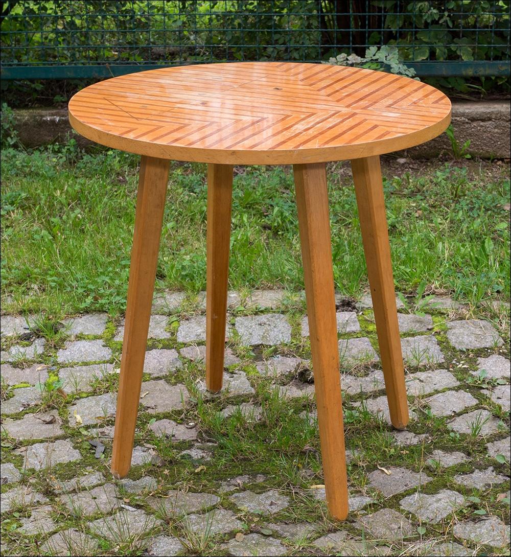 Kultiger kleiner beistelltisch runder tisch vintage for Kleiner runder tisch beistelltisch