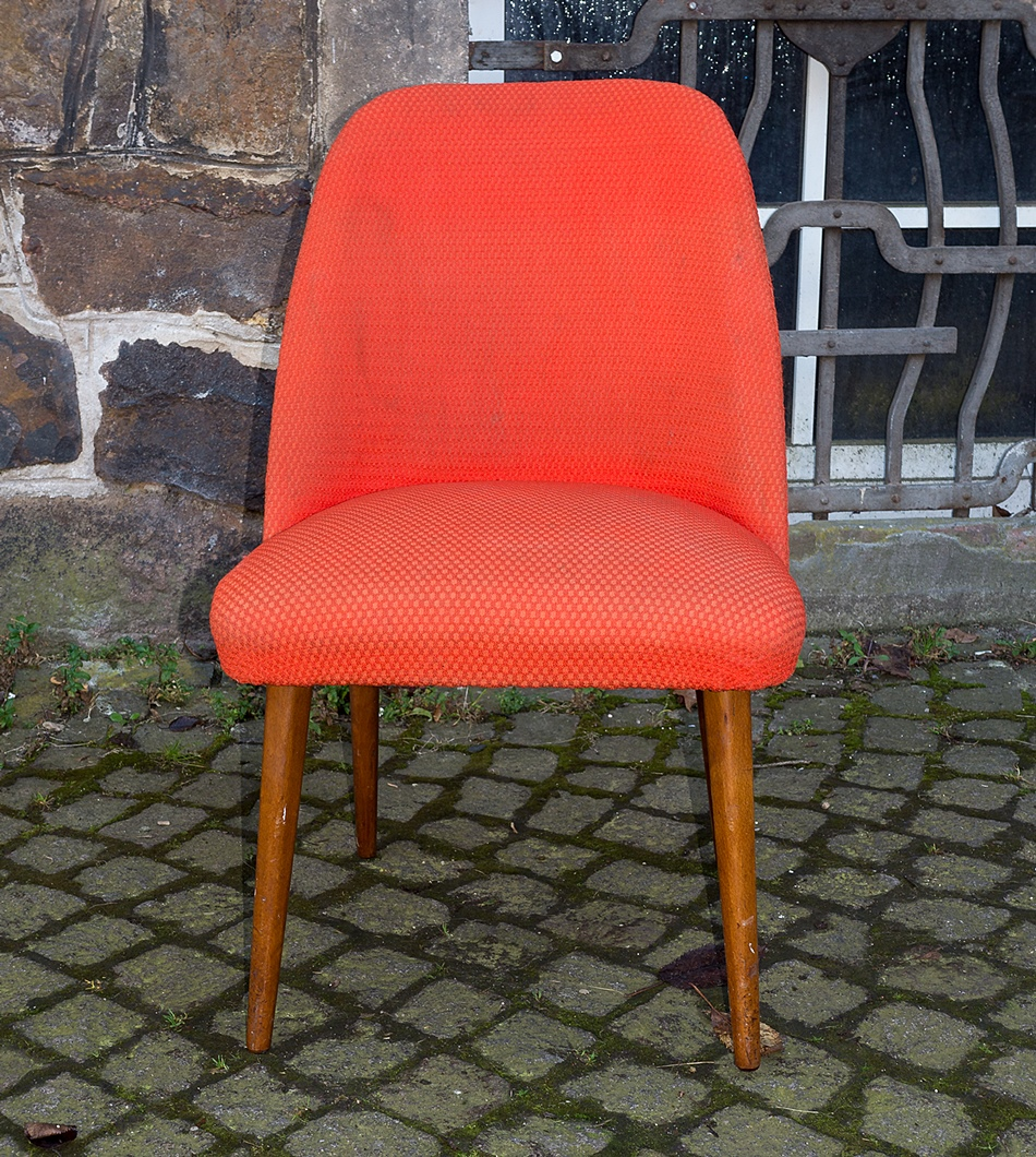 Roter club sessel lounge sessel stuhl vintage design for Stuhl design 60er