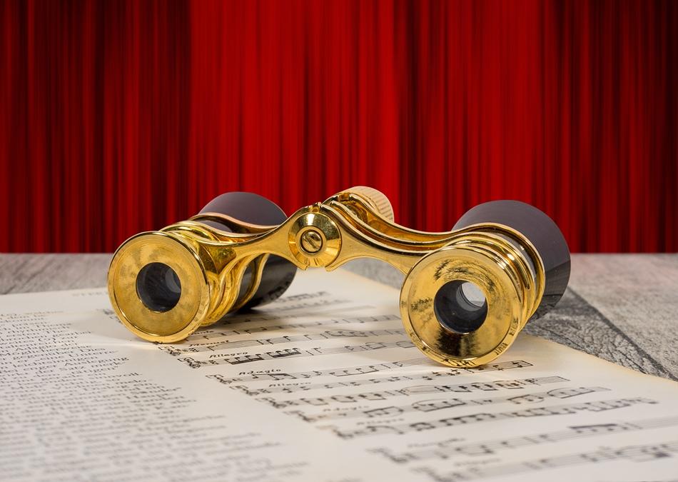 Theater Fernglas Kleines altes Opern